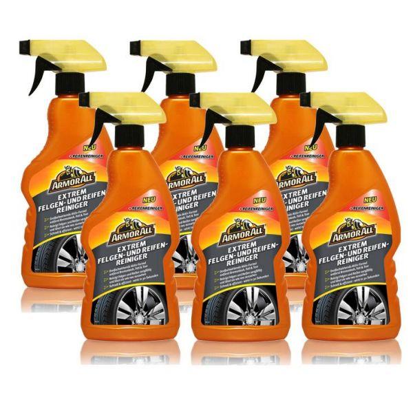 6x ARMOR ALL Extreme Felgenreiniger & Reifenreiniger Felgenreinigung 500 ml