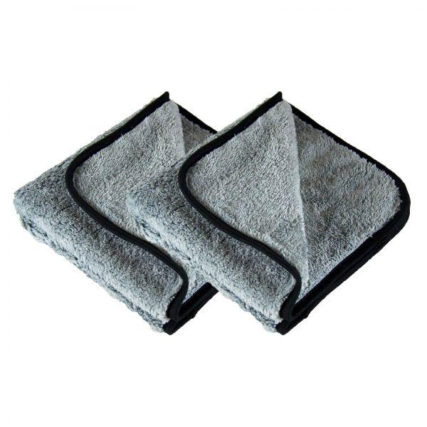 2x Parts4Care Mikrofasertuch Poliertuch Microfasertuch grau 500 GSM 40 x 40 cm