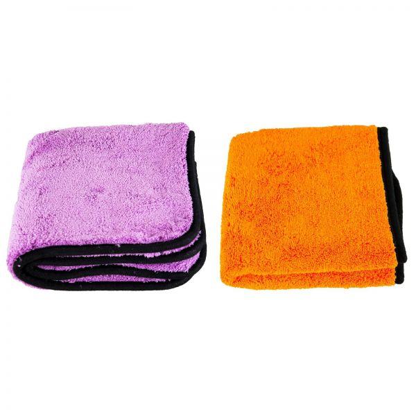 LIQUID ELEMENTS Purple Monster 1800 GSM & Orange Baby 800 GSM Mikrofasertuch