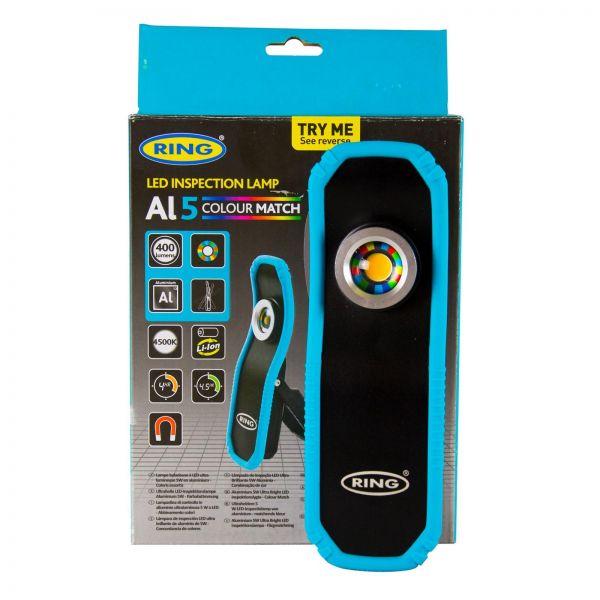 RING Al5 Colour Match LED Inspection Lamp Inspektionslampe Arbeitslicht Lampe