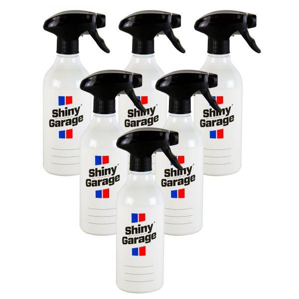 6x SHINY GARAGE Zubehörflasche Leere Sprühflasche Flasche 500 ml inkl. Sprühkopf