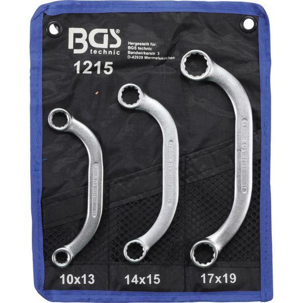 BGS Starter- und Blockschlüssel-Satz SW 10x13 - 17x19 mm 3-tlg.