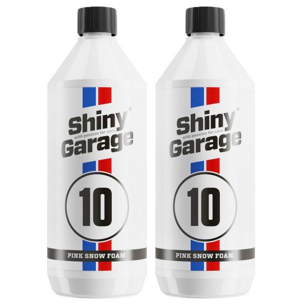 2x SHINY GARAGE Pink Snow Foam Shampoo pinker Schaum Reinigungsschaum 1 L Liter