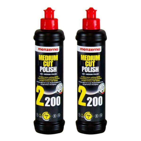 2x MENZERNA Medium Cut Polish 2200 Schleifpolitur Politur Schleifpaste 250 ml