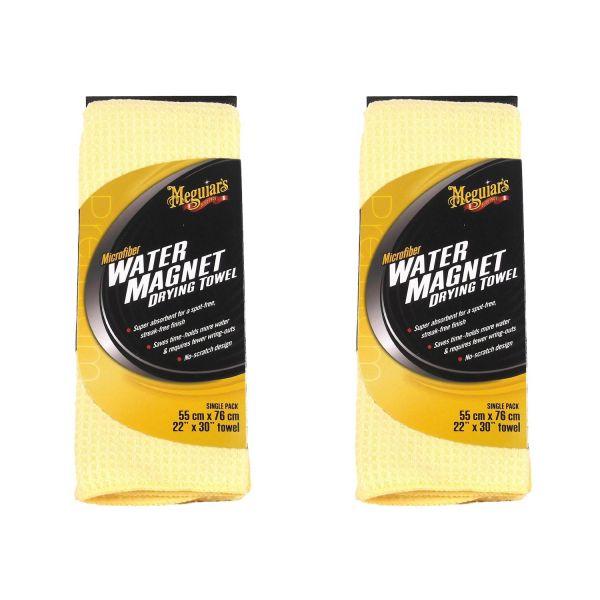 2x MEGUIAR'S MEGUIARS Water Magnet Drying Towel Trockentuch Mikrofaser 70 x 55 cm