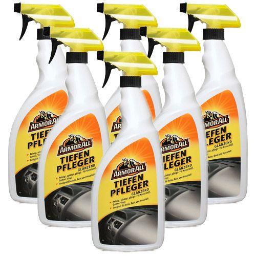 6x ARMOR ALL Tiefenpfleger Kunststoff Pflege Reiniger glänzend 1 L Liter