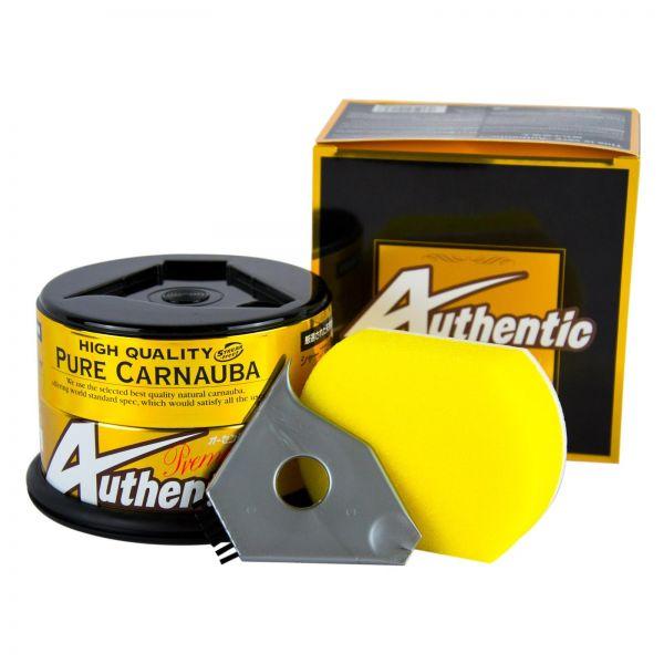SOFT99 Authentic Premium Wax Carnauba Wachs Autowachs 200 g + Schwamm