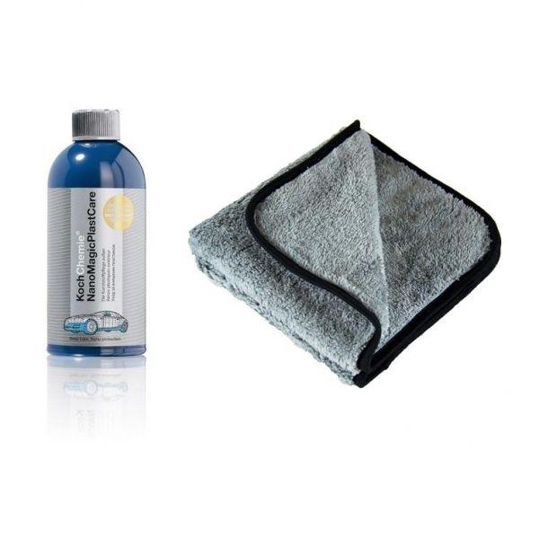 KOCH CHEMIE Nano Magic Plast Care Kunststoffpflege 500 ml & P4C Mikrofasertuch