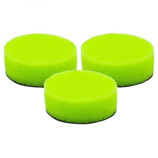 3x LIQUID ELEMENTS Polierpad Polierschwamm Polierscheibe grün weich 40/15 mm