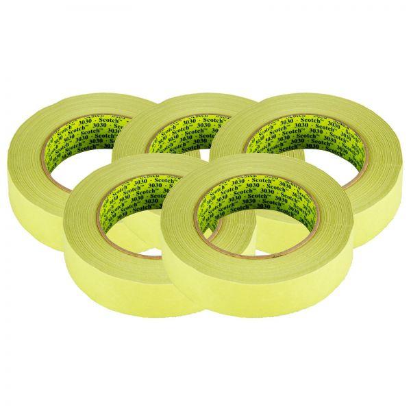 5x 3M Scotch Tape 3030 Klebeband Abklebeband Abdeckband grün 30mm x 50m 1 Stk