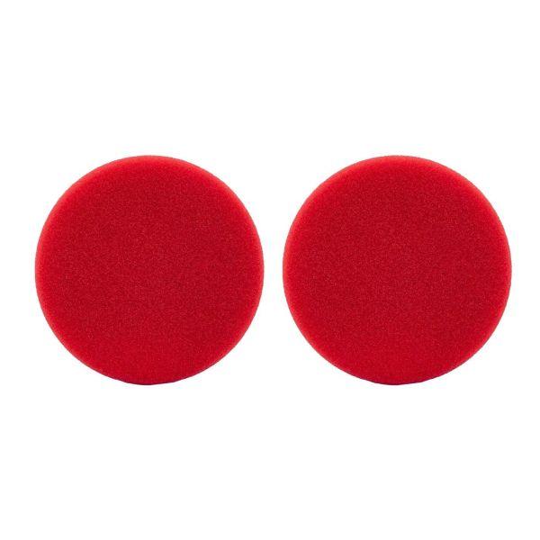 2x LIQUID ELEMENTS Polierpad Polierschwamm Polierscheibe rot hart 80/20 mm