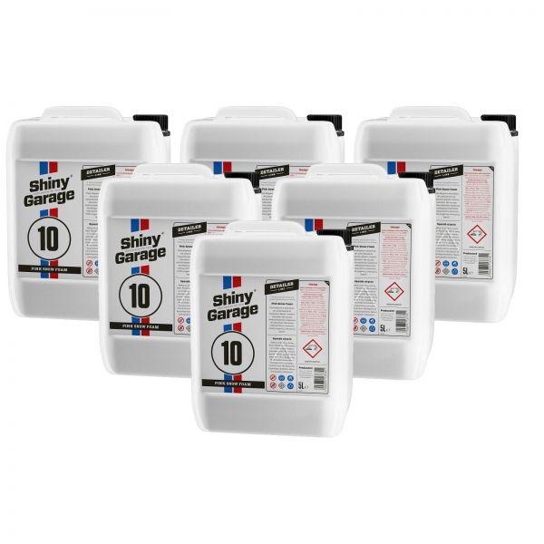 6x SHINY GARAGE Pink Snow Foam Shampoo pinker Schaum Reinigungsschaum 5 L Liter
