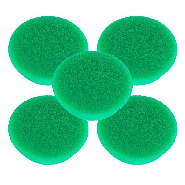 5x RUPES Polierpad Medium Polierschwamm Polierscheibe grün mittel 30-40mm
