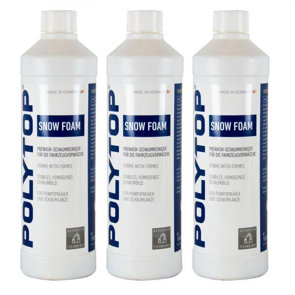 3x POLYTOP Snow Foam Shampoo Autoshampoo Autoreiniger Schaumreiniger 1 L Liter