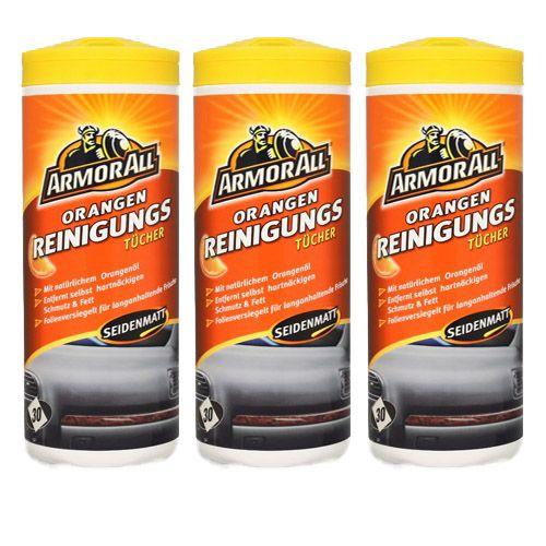 3x ARMOR ALL Orange Clean Cleaner Reinigungstücher 30 Stk