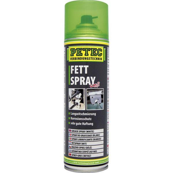 PETEC Fettspray Schmierfett Sprühfett Haftfett Fett weiß weiss Spray 500 ml
