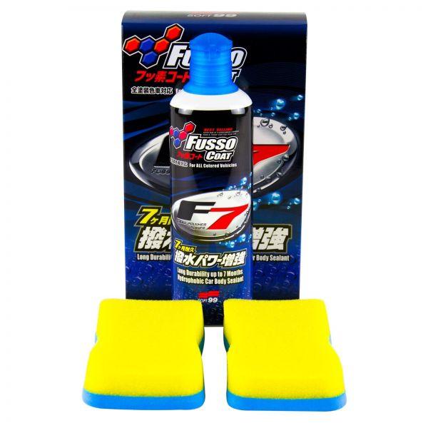 SOFT99 Fusso Coat F7 Versiegelung Lackversiegelung Wachs 300 ml + 2x Schwamm