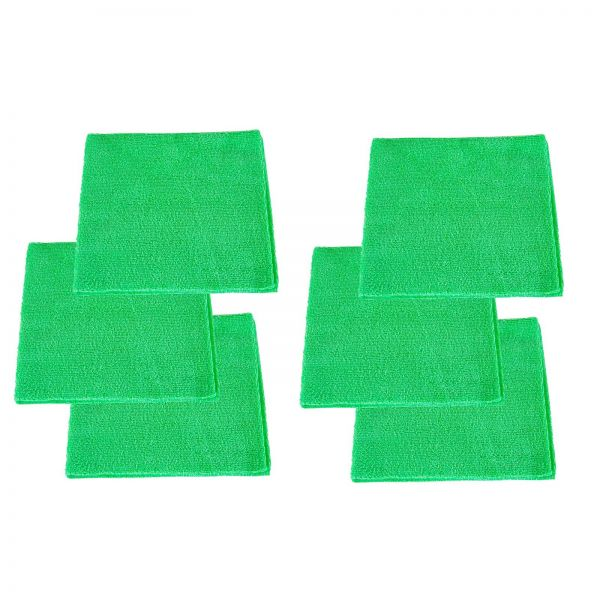 6x RUPES Mikrofasertuch Poliertuch Microfasertuch Trockentuch grün 40 x 40 cm