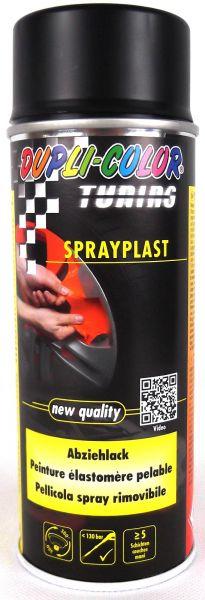 DUPLI-COLOR Sprayplast Aerosol Abziehlack schwarz matt 400 ml