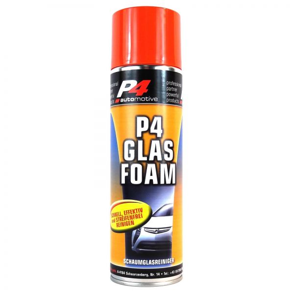 P4 Glas Foam Schaumglasreiniger Glasreiniger Insektenentferner 500 ml