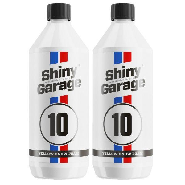 2x SHINY GARAGE Yellow Snow Foam Shampoo gelber Schaum Reinigungsschaum 1 Liter