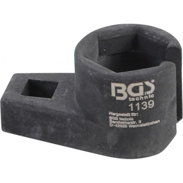 """BGS Einsatz für Lambdasonde Innenvierkant 10 mm (3/8"""""""") SW 22 mm"""