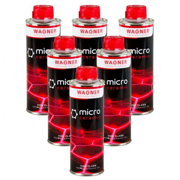 6x WAGNER SPEZIALSCHMIERSTOFFE Universal-Micro-Ceramic-Oil Öl-Zusatz 500 ml