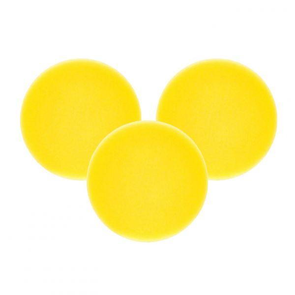 3x LIQUID ELEMENTS Polierpad Polierschwamm Polierscheibe gelb mittel 80/20 mm