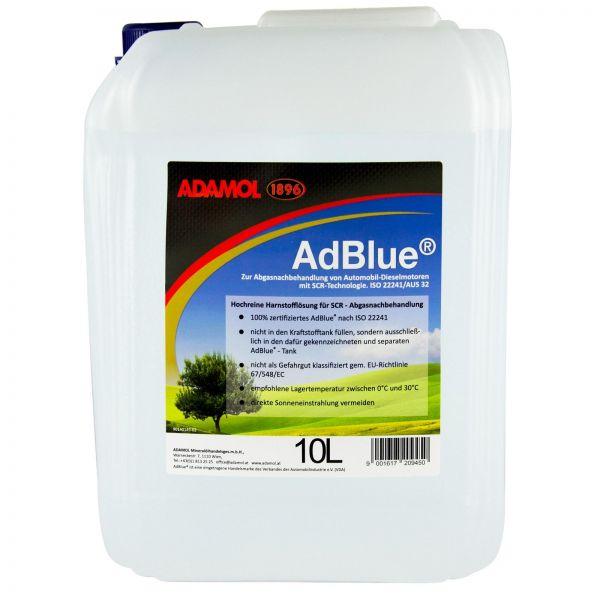 ADAMOL 1896 AdBlue hochreine Harnstofflösung für SCR nach ISO 22241 10 L Liter