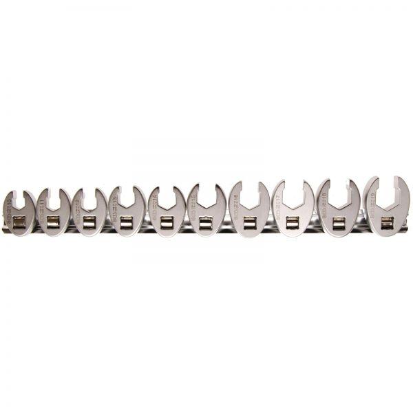 "BGS Hahnenfußschlüssel-Satz Innenvierkant 10 mm (3/8"""") SW 10 - 19 mm 10-tlg."