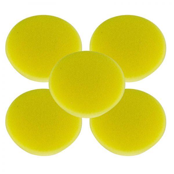 5x RUPES Polierpad Fine Polierschwamm Polierscheibe gelb soft 50-70mm