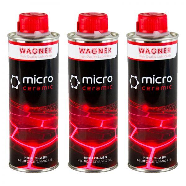 3x WAGNER SPEZIALSCHMIERSTOFFE Universal-Micro-Ceramic-Oil Öl-Zusatz 500 ml