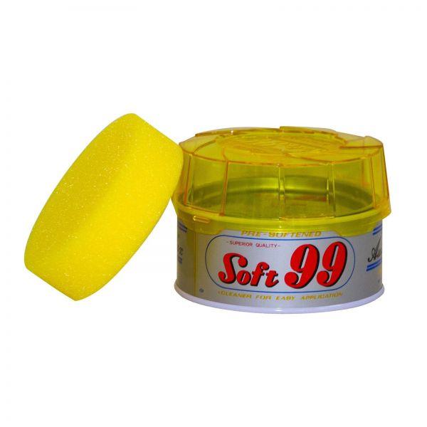 SOFT99 Hanneri Wax Wachs Autowachs Hartwachs Lackreinigung 280 g + Schwamm