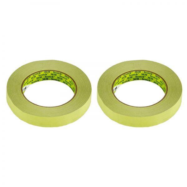 2x 3M Scotch Tape 3030 Klebeband Abklebeband Abdeckband grün 18mm x 50m 1 Stk