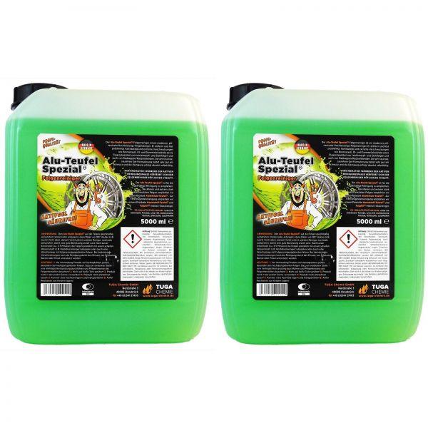 2x TUGA Aluminium-Teufel Alu-Teufel Felgenreiniger Felgenreinigung Gel Grün 5 kg