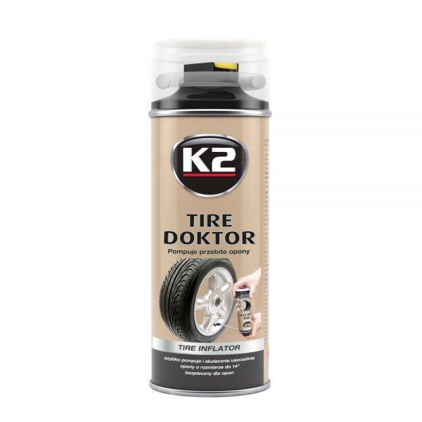 K2 Tyre Doktor Reifendichtmittel Reifenreparatur Reifendicht Reifen 400 ml