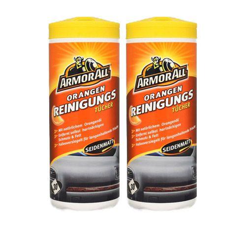 2x ARMOR ALL Orange Clean Cleaner Reinigungstücher 30 Stk