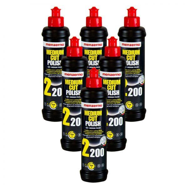 6x MENZERNA Medium Cut Polish 2200 Schleifpolitur Politur Schleifpaste 250 ml