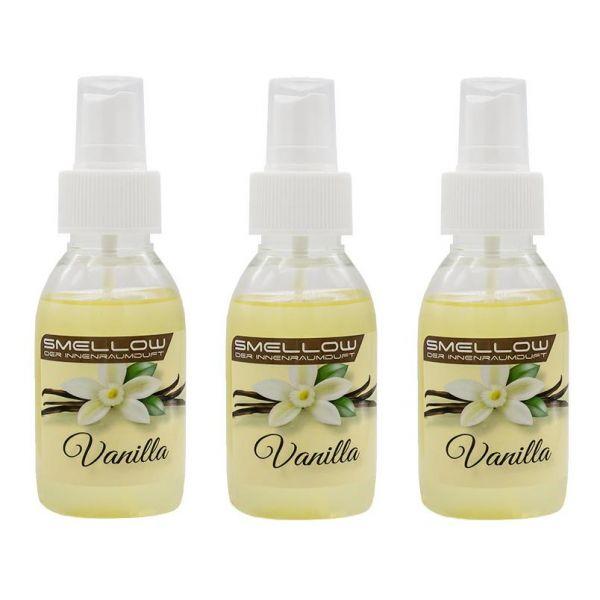 3x LIQUID ELEMENTS Smellow Vanille Innenraumduft Lufterfrischer Duft 100 ml