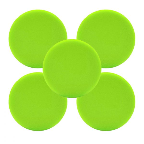 5x LIQUID ELEMENTS Polierpad Polierschwamm Polierscheibe grün weich 125/25 mm