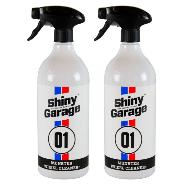 2x SHINY GARAGE Monster Wheel Cleaner+ Felgenreiniger 1 L Liter + Sprühkopf