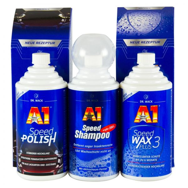 dr wack a1 speed polish politur 500ml speed wax plus 3. Black Bedroom Furniture Sets. Home Design Ideas