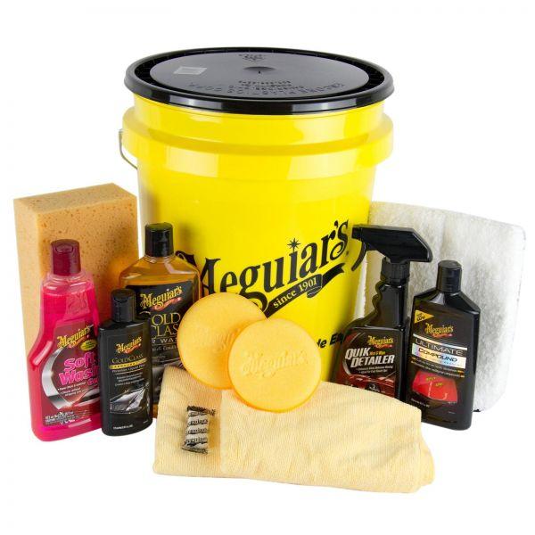 MEGUIARS Paint Restoration Lackpflege & Grit Guard + Deckel & Shampoo & Schwamm