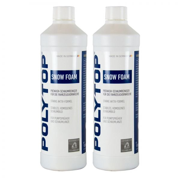 2x POLYTOP Snow Foam Shampoo Autoshampoo Autoreiniger Schaumreiniger 1 L Liter