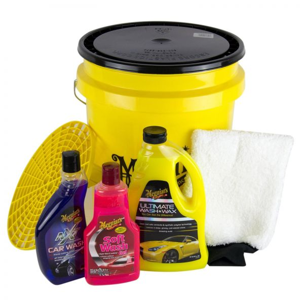 MEGUIAR'S MEGUIARS Autoshampoo & Grit Guard Wascheimer + Deckel & Waschhandschuh
