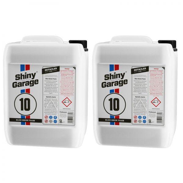 2x SHINY GARAGE Blue Snow Foam Shampoo blauer Schaum Reinigungsschaum 5 L Liter