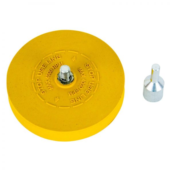 Aufkleberentferner Folienradierer Radierscheibe Plakettenentferner 88x15mm 1 Stk
