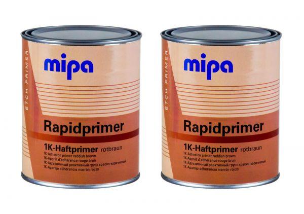 2x MIPA Rapidprimer 1K-Haftprimer rotbraun Grundierung Primer Rostschutz 1 L