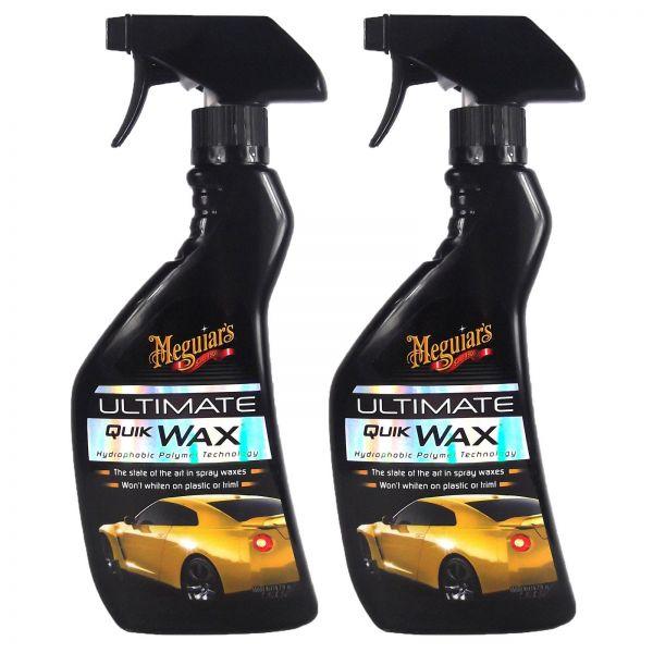 2x MEGUIAR'S MEGUIARS Ultimate Quik Wax Sprühwachs Wachs Autowachs 450 ml