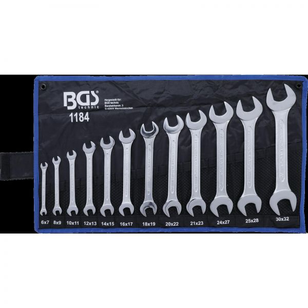 BGS Doppel-Maulschlüssel-Satz SW 6x7 - 30x32 mm 12-tlg.